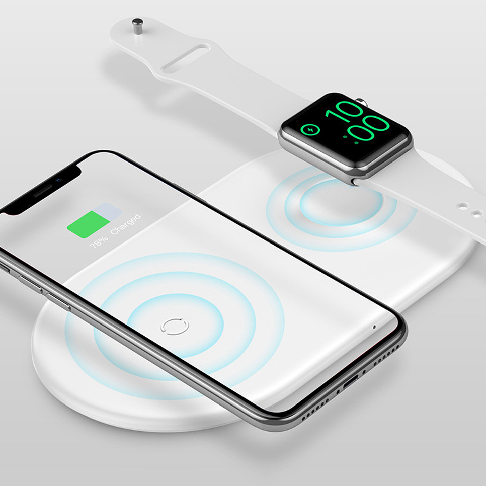new concept ca992 e22e8 Baseus Dual Fast Wireless Charging Pad - Apple Watch / iPhone Xs